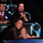 Christian Bale And Family @ Space Mountain