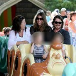 Christian Bale and Family Go To Disneyland