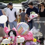 Christian Bale Visits The Memorial For The Victims Of The Shooting