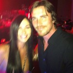 Christian Bale With A Fan While Filming 'Knight Of Cups'