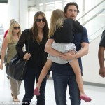 Christian Bale & Family Leaving JFK For London [July 17th, 2012]