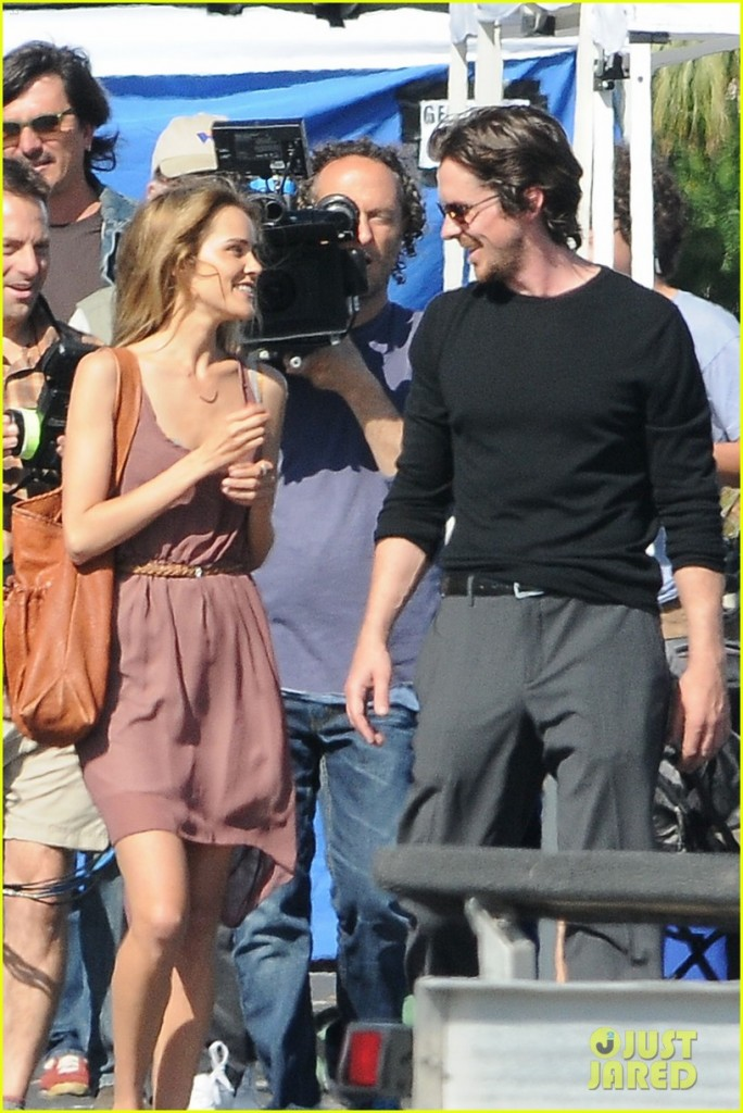 Christian Bale and Isabel Lucas film in Marina Del Rey
