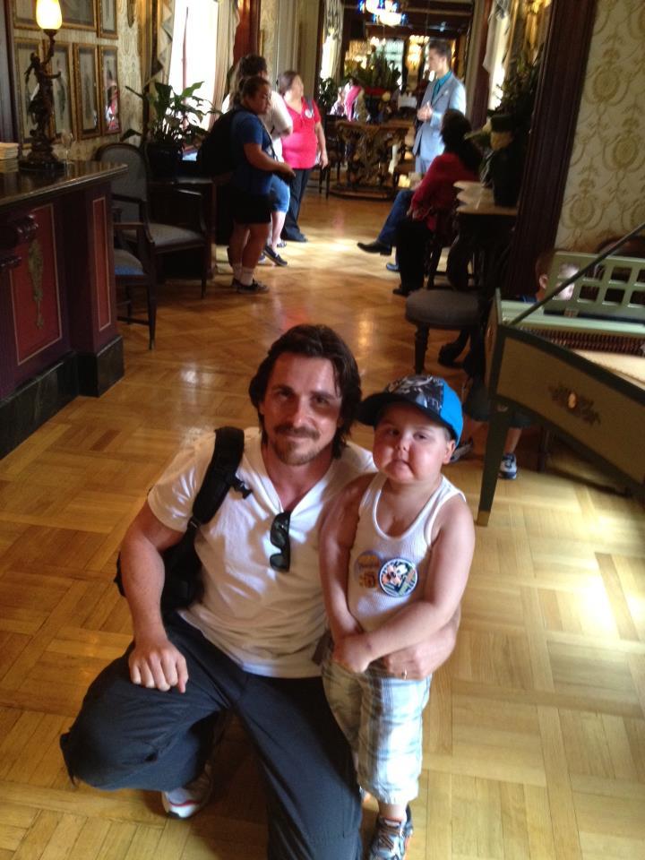 Christian Bale Meets Jayden 2
