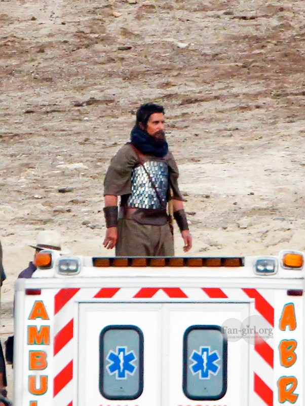 christian bale flming exodus 16 More On Set Photos / Christian Bale Filming Exodus