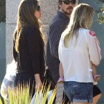 Christian Bale & Family Arrive At Their Hotel In Spain (October 21st, 2013)
