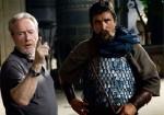 Christian Bale And Ridley Scott On 'Exodus' Set
