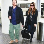 Mr. & Mrs. Bale Leaving LAX Yesterday