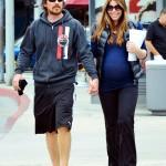 Mr. & Mrs. Bale Enjoying A Walk In LA Yesterday