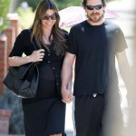 Mr. & Mrs. Bale Out & About Yesterday In Santa Monica