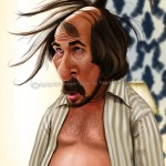 Christian Bale As Irving Rosenfeld Caricature By Marcus