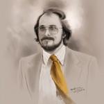 Beautiful Digital Portrait Of Christian Bale As Irving Rosenfeld