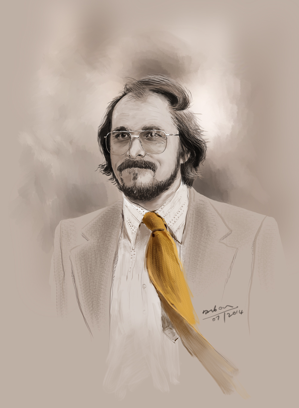 Irving Rosenfeld Beautiful Digital Portrait Of Christian Bale As Irving Rosenfeld