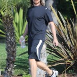 Christian Bale Out & About Yesterday