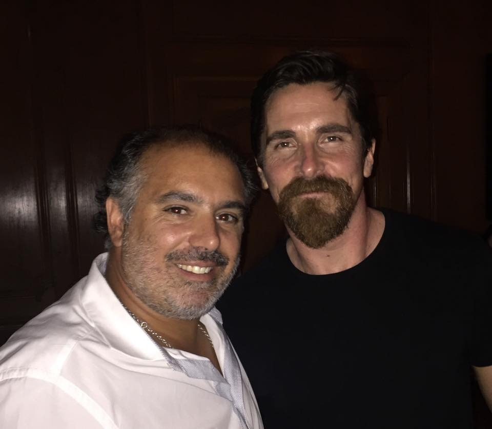 Christian Bale with Chef Olivier Costa in Lisbon, Portugal 12-09-2015