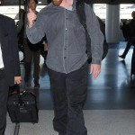 Christian Bale Leaving LAX Yesterday