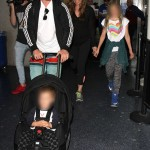 The Bale Family Arriving At LAX Yesterday