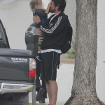 Christian Bale & Son On A Walk Yesterday
