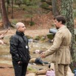 Christian Bale On The Set Of 'The Promise' With Producer Eric Esrailian
