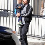 Christian Bale & Son Out For Breakfast Yesterday