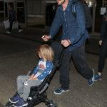 Christian Bale And Family At LAX (November 27th, 2018)