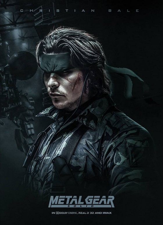 Christian Bale As Metal Gear Solid S Snake By Artist Bosslogic